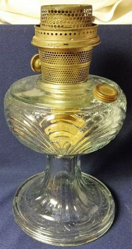 Washington Drape Crystal Round Stem Kerosene Lamp Aladdin Mantle Lamp