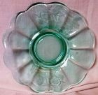 "Nora Bird Green Mayonnaise Underliner 7.75"" Paden City Glass Company"