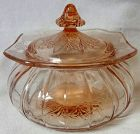 Adam Pink Candy and Lid Jeannette Glass Company