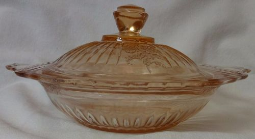 "Mayfair Pink Butter 7"" Hocking Glass Company"