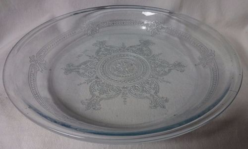 "Sapphire Blue Pie Plate 9.75"" Fire King Anchor Hocking Glass"