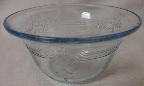 "Sapphire Blue Custard Cup Flared Rim 3.75"" 5 oz Fire King"