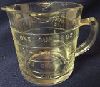 1 Cup Measuring Cup 3 Spout Crystal Hocking Glass Company