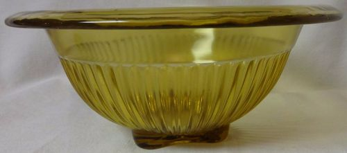 "Mixing Bowl Amber 6.75"" Federal Glass Company"