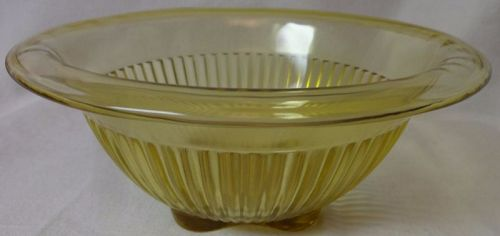 "Mixing Bowl Amber 7.75"" Federal Glass Company"
