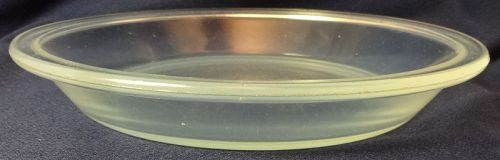 "Fry Ovenglass Pie Plate 9"" Round 1916-9 Fry Glass"
