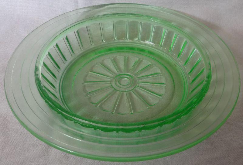 New Century Green Butter Bottom Hazel Atlas Glass Company