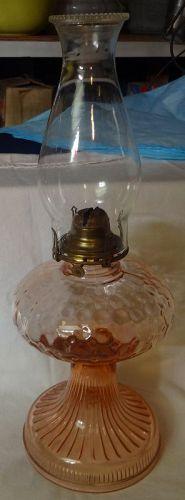 """Pink Oil Lamp 11.5"""""""