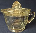 Measuring 2 Cup Pitcher & Reamer Crystal Hocking Glass Company