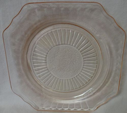 "Mayfair Pink Luncheon Plate 8.5"" Hocking Glass Company"
