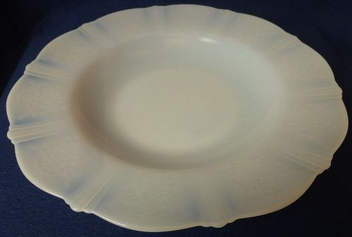 "American Sweetheart Monax Flat Soup Bowl 9.5"" Mac Beth Evans Glass Co"