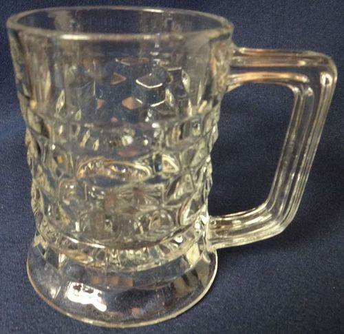 "American Crystal Beer Mug 12 oz 4.5"" Fostoria Glass Company"