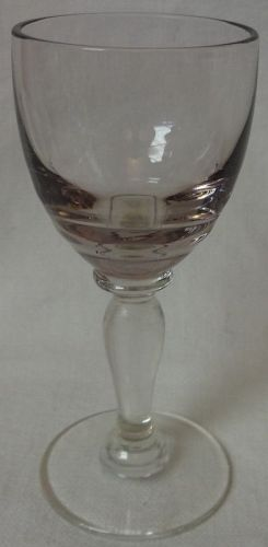 Cordial Orchid Optic Bowl Crystal Foot 3.5""