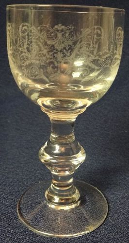 Crystal Etched Cordial 3 5/16""