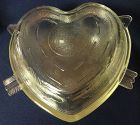 "Cupid & Arrow Crystal Covered Casserole 9.75"" Saben Glass Company"