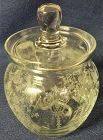 Rose Point Crystal Mustard & Lid 3 oz Cambridge Glass Company