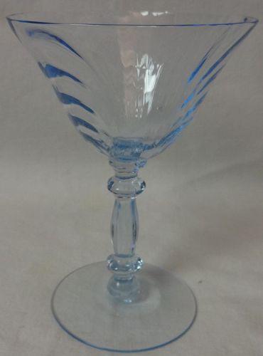 "Caprice Moonlight Blue Tall Sherbet 5 5/8"" 6 oz Cambridge Glass"