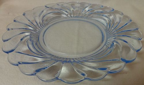 "Caprice Moonlight Blue Salad Plate 8 5/8"" #22 Cambridge Glass Company"