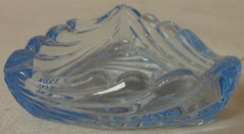 "Caprice Moonlight Blue Ashtray 3"" Triangle #206 Cambridge Glass"