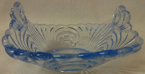 "Caprice Moonlight Blue Basket 4"" 2 Handled #146 Cambridge Glass"