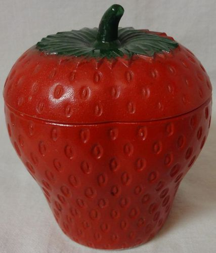 "Strawberry Red 4"" Hazel Atlas Glass Company"
