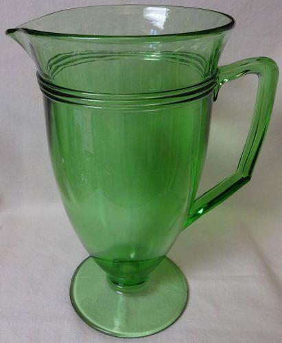 "Priscilla Green Tumbler Handled Footed 6 1/8"" Fostoria Glass Company"