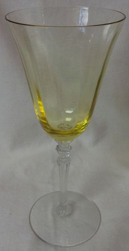 "Line 5099 Topaz Goblet 9 oz 8.25"" Fostoria Glass Company"