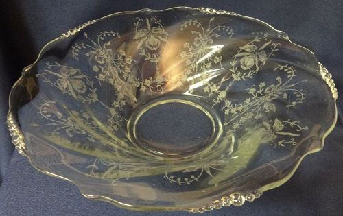 "Orchid Crystal Bowl 12.5"" Heisey Glass Company"