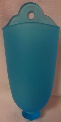 "Wall Vase Sky Blue Satin 9.25"" x 4"" Tiffin Glass Company"