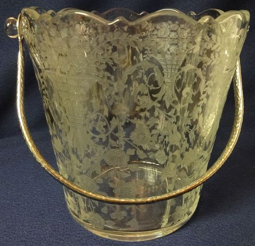 Portia Crystal Ice Bucket Cambridge Glass Company