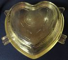 "Cupid & Arrow Casserole Crystal 9.5"" Saden Glass Company"