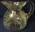 "Rose Point Crystal Daulton Pitcher 8"" 80 oz 3400/141 Cambridge Glass"