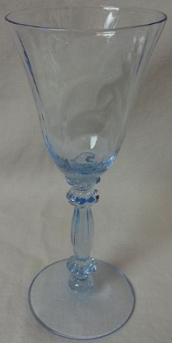 "Caprice Moonlight Blue Wine 5.75"" 2.5 oz #300 Cambridge Glass Company"