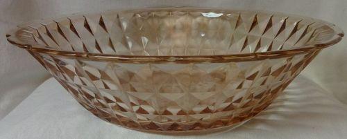 "Windsor Pink Fruit Bowl 12.5"" Jeannette Glass Company"