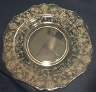 "Rose Point Crystal Dinner Plate 10.5"" 3900/24 Cambridge Glass Company"