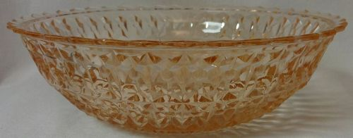 """Holiday Pink Bowl 8.5"""" Jeannette Glass Company"""