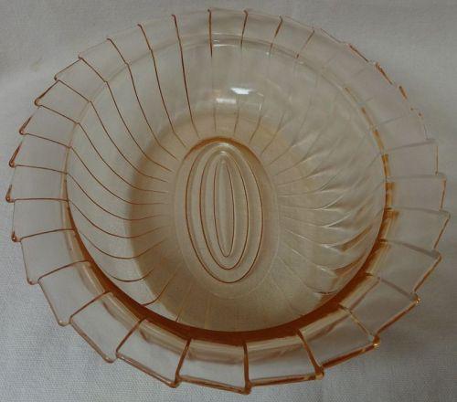 """Sierra Pink Bowl Oval 9.25"""" Jeannette Glass Company"""