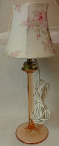 Boudoir Electric Lamp Pink 9.75""