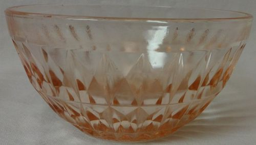 "Windsor Pink Cereal Bowl 5.25"" Jeannette Glass Company"