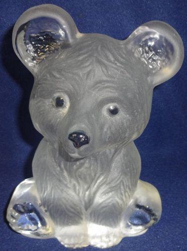 "Bear Crystal 6.75"" Viking Glass Company"