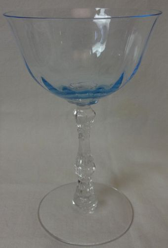 "Blank 6016 Wilma Azure Cocktail 3.5 oz 5.5"" Fostoria Glass Company"