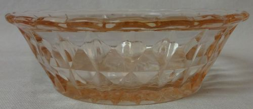 "Windsor Pink Berry Bowl 4.75"" Jeannette Glass Company"