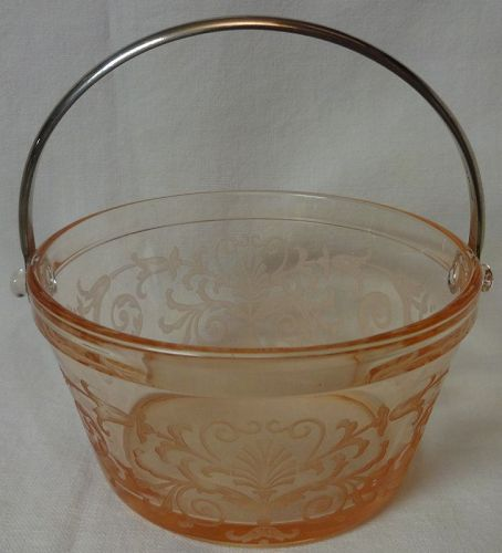 "Versailles Rose Whipped Cream Pail 4 7/8"" Fostoria Glass Company"