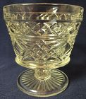 "Gothic Crystal Sherbet 3 5/8"" 8 oz Hazel Atlas Glass Company"