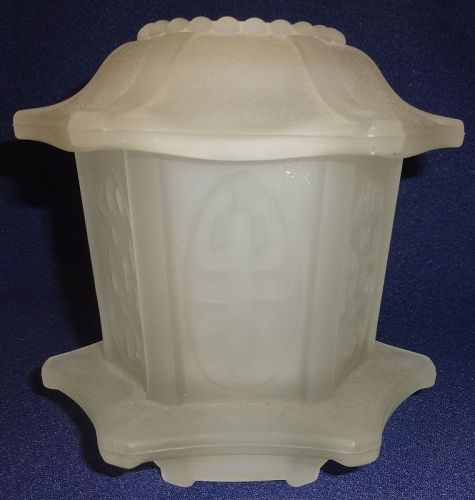 Pagoda Crystal Frosted Fairy Lamp 4.75""