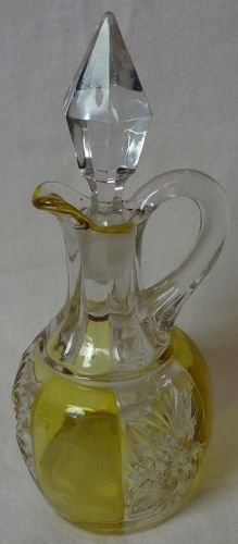 "Brilliant Cruet Amber Stain 7.5"" Riverside Glass"