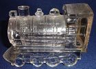 "Train Crystal 2.75"" with backing Candy Container"