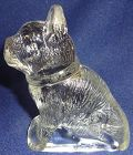 "Dog Crystal 3.75"" Sitting Up Candy Container"