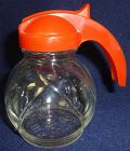 "Overlapping Leaves Crystal Creamer 4"" Orange Top Hazel Atlas Glass"