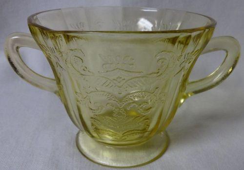 Madrid Amber Sugar Federal Glass Company